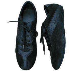 Vintage - Dior Black Leather & Suede Sneakers